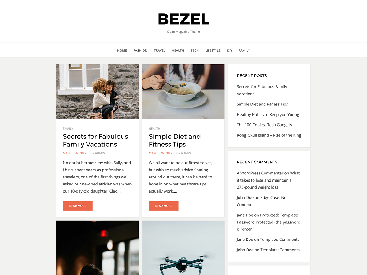 Bezel Free Magazine WordPress Theme