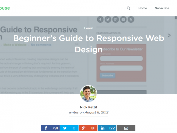 20 Amazing Tutorials For A Responsive Web Design