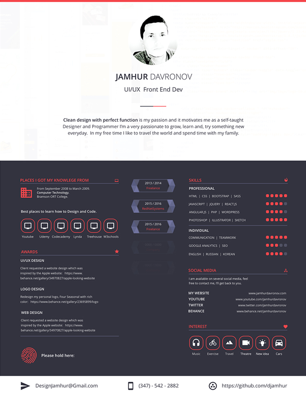 This Is A Modern Resume Template With Eye Catching Colors And Easy To Read  Documentation. Free Resume Template Has A Beautiful Resume In Sketch Format.