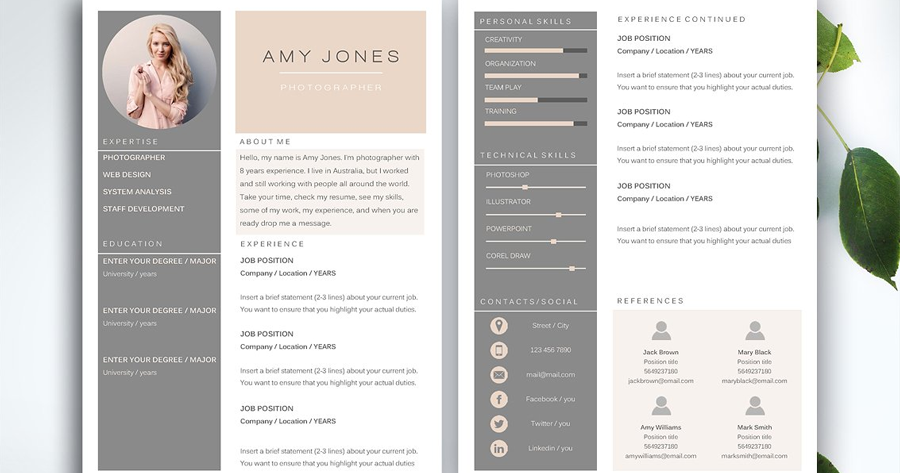 awesome resume templates