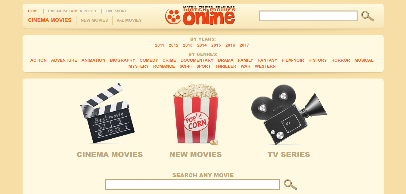 25 Free Websites For Watching Online Movies - SimpleFreeThemes