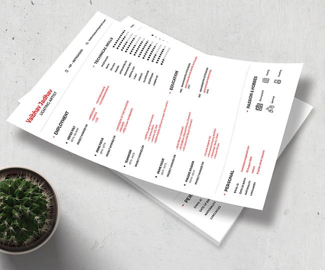 34 best modern design resume templates simplefreethemes
