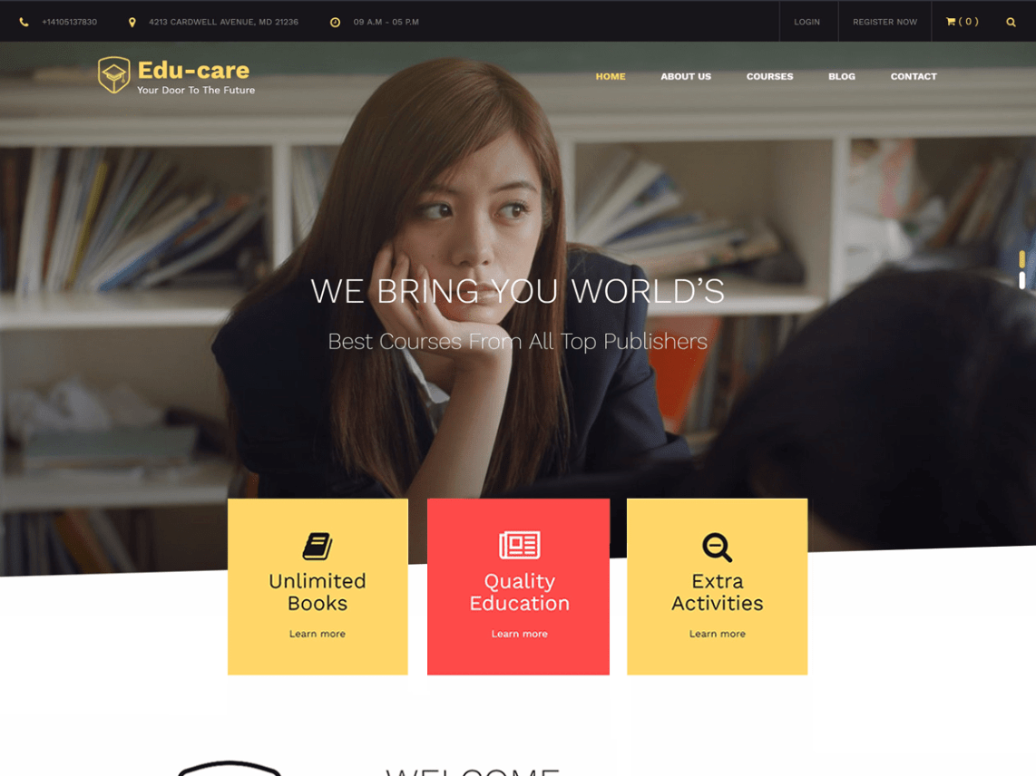 edu care is an alluring present day simple to utilize and responsive wordpress education theme with staggering outline and adaptability