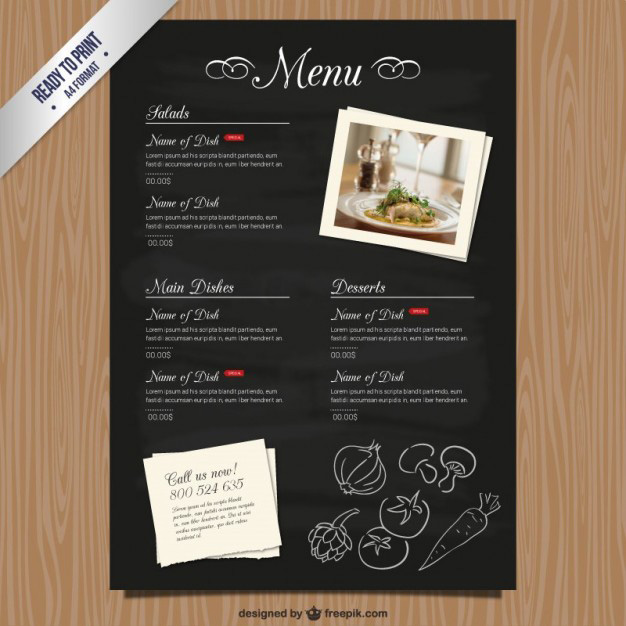 Wonderful Cmyk Restaurant Menu Template To Free Downloadable Restaurant Menu Templates