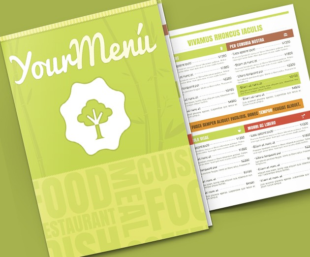 menu template psd