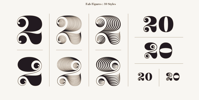 Number Fonts Styles